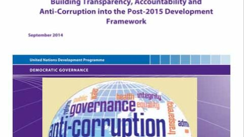 Discussion Paper: Building Transparency, Accountability and Anti-corruption into the Post 2015 Development Agenda